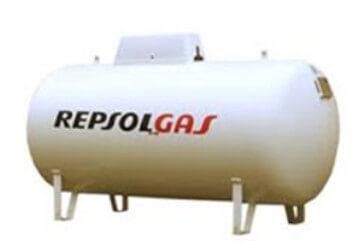 Depósito aereo gas propano