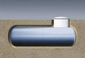 Depósito enterrado gas propano