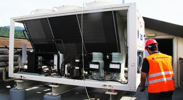 instalacion industrial de aire acondicionado