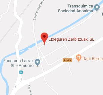 mapa ubicación etxeguren