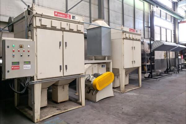 instalaciones de aspiración y filtración industrial