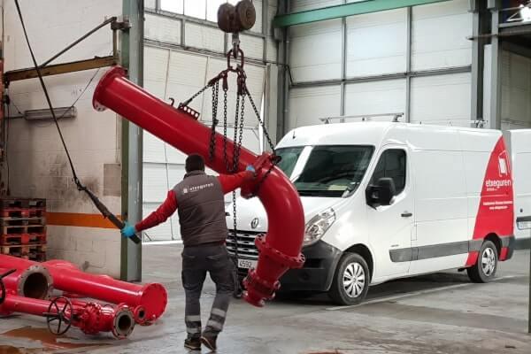 transporte maquinaria industrial