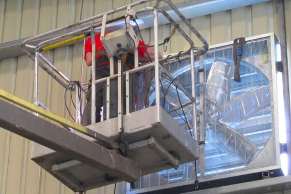 Ventilación de una nave industrial