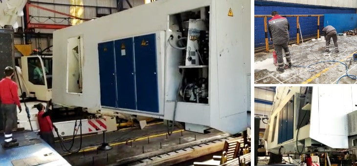 Movimiento de 4 máquinas industriales para una empresa de mecanizado de Bizkaia