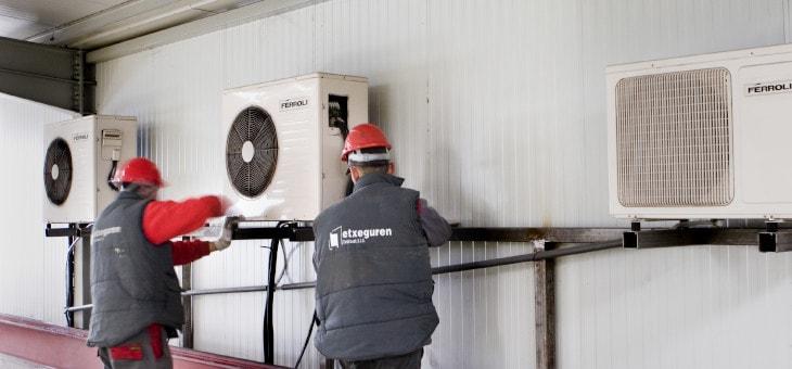 Ampliación sistema de aire acondicionado en las oficinas de Talleres Larrinaga SL