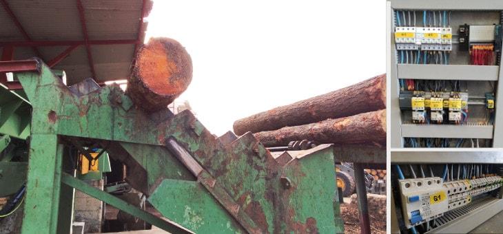 Automatización del proceso de pelado para el aserradero Villar en Zalla