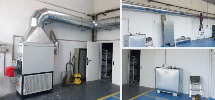 Nueva instalación de climatización en una de las naves industriales de Inali