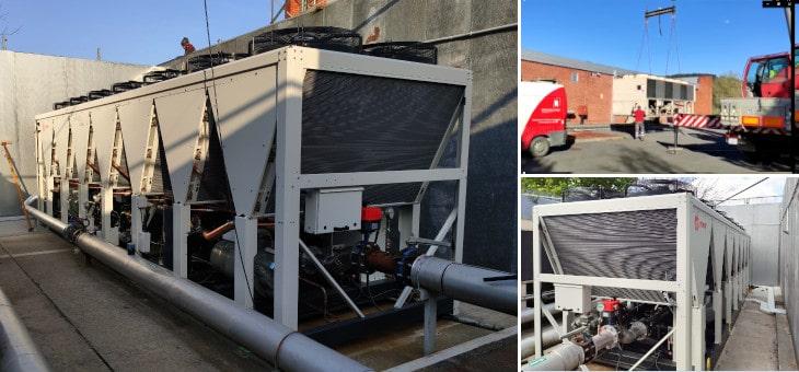 Instalación de enfriadora industrial para TATA COMMUNICATIONS SPAIN, S.L.