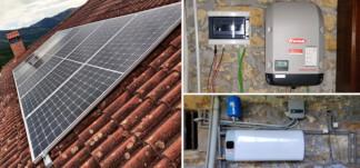 nueva instalacion de fototermia y autoconsumo fotovoltaico