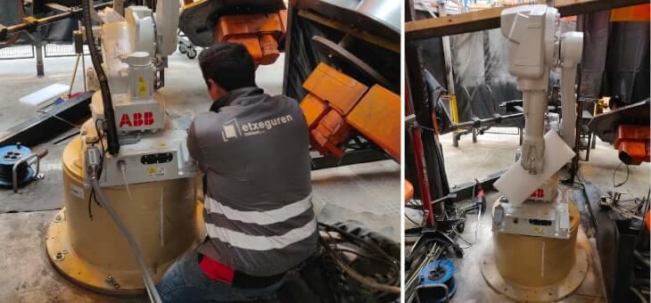 Sustitución de un robot de soldadura para el fabricante tecnológico ABB