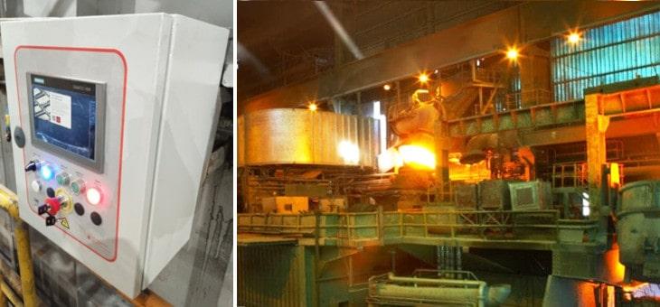 Renovación de la instalación eléctrica en el horno de calentamiento de las lingoteras en empresa de Siderometalurgia