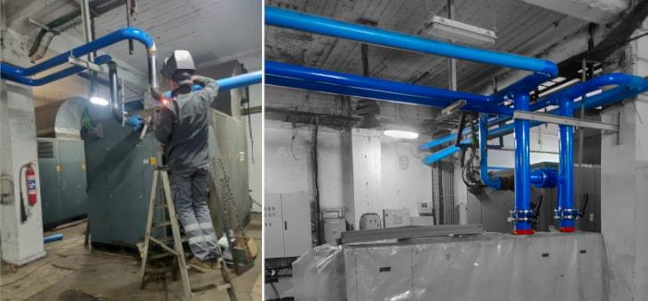 Reforma de la instalación de aire a presión de la sala de compresores de Tubos Reunidos