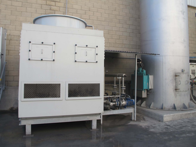 Sistema de refrigeración reactor escorias
