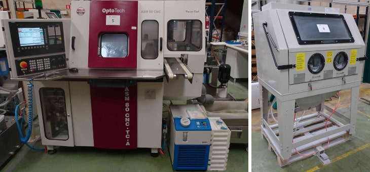 Desconexión y preparación de 14 máquinas  para la empresa Óptica Alipios en Portugal